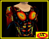 red blood male plastic top with Abs