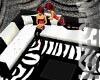 Flirty zebra livingroom-kokeshidoll